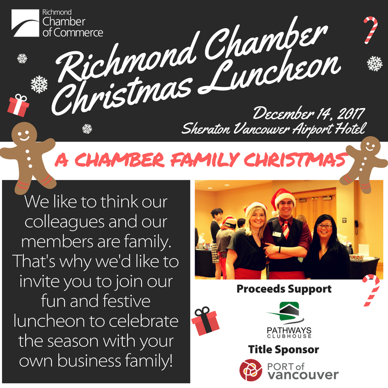 Annual Christmas Luncheon at the Richmond Chamber of Commerce, in support of Pathways Clubhouse