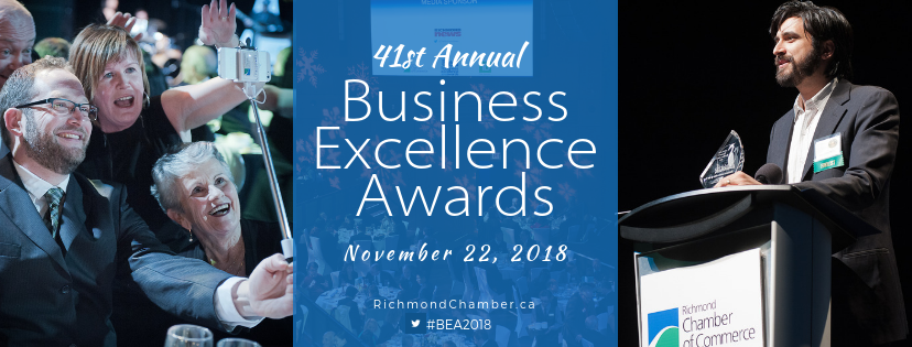 Business Excellence Awards November 22 2018 at the River Rock Casino Resort