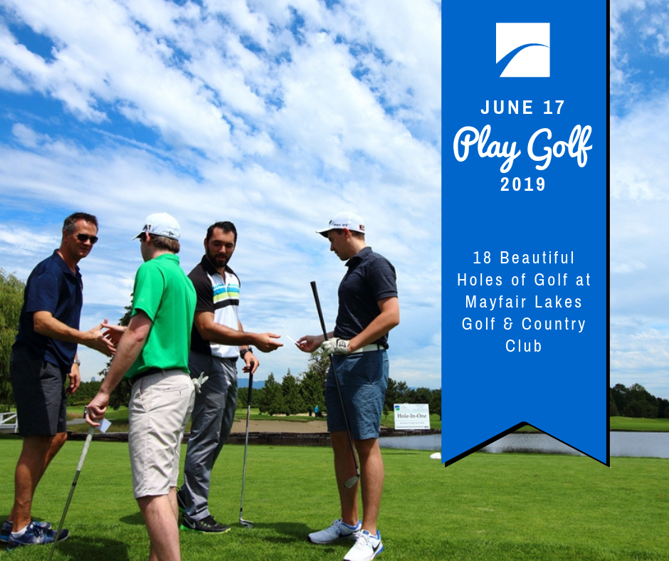 36th Annual Golf Tournament June 17th at Mayfair Lakes Golf & Country Club